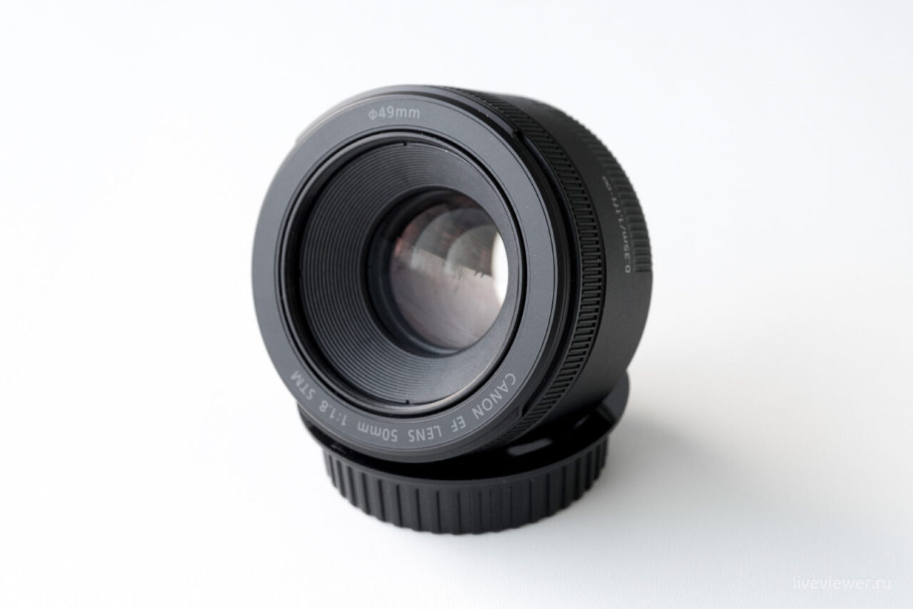 Canon EF 15mm 1.8 STM передняя линза